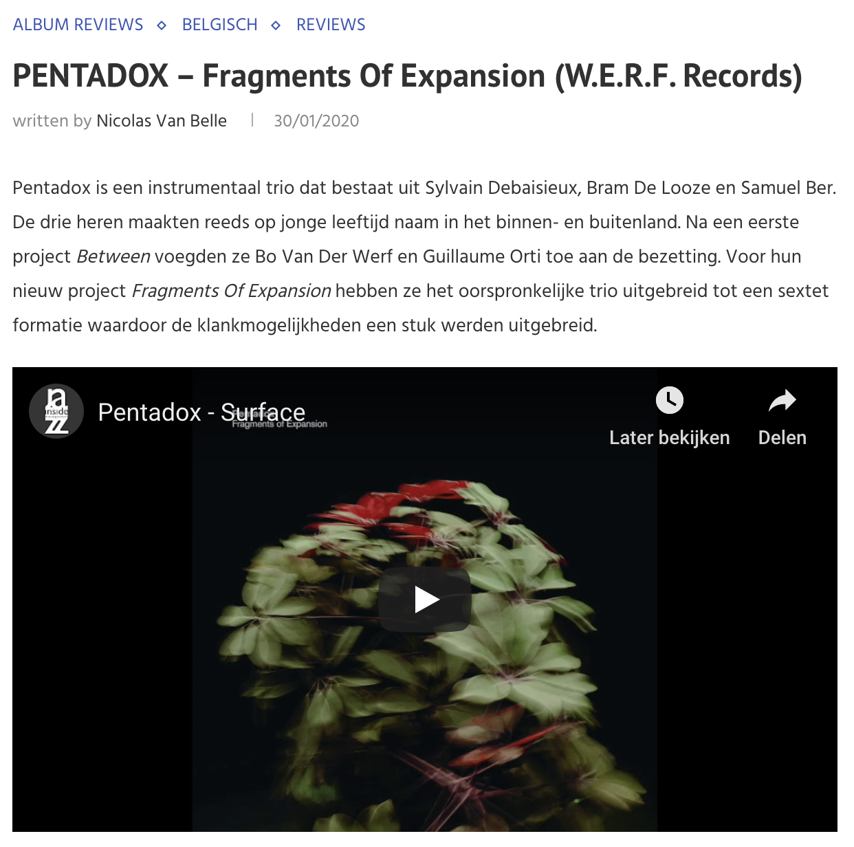 pentadox fragments of expansion