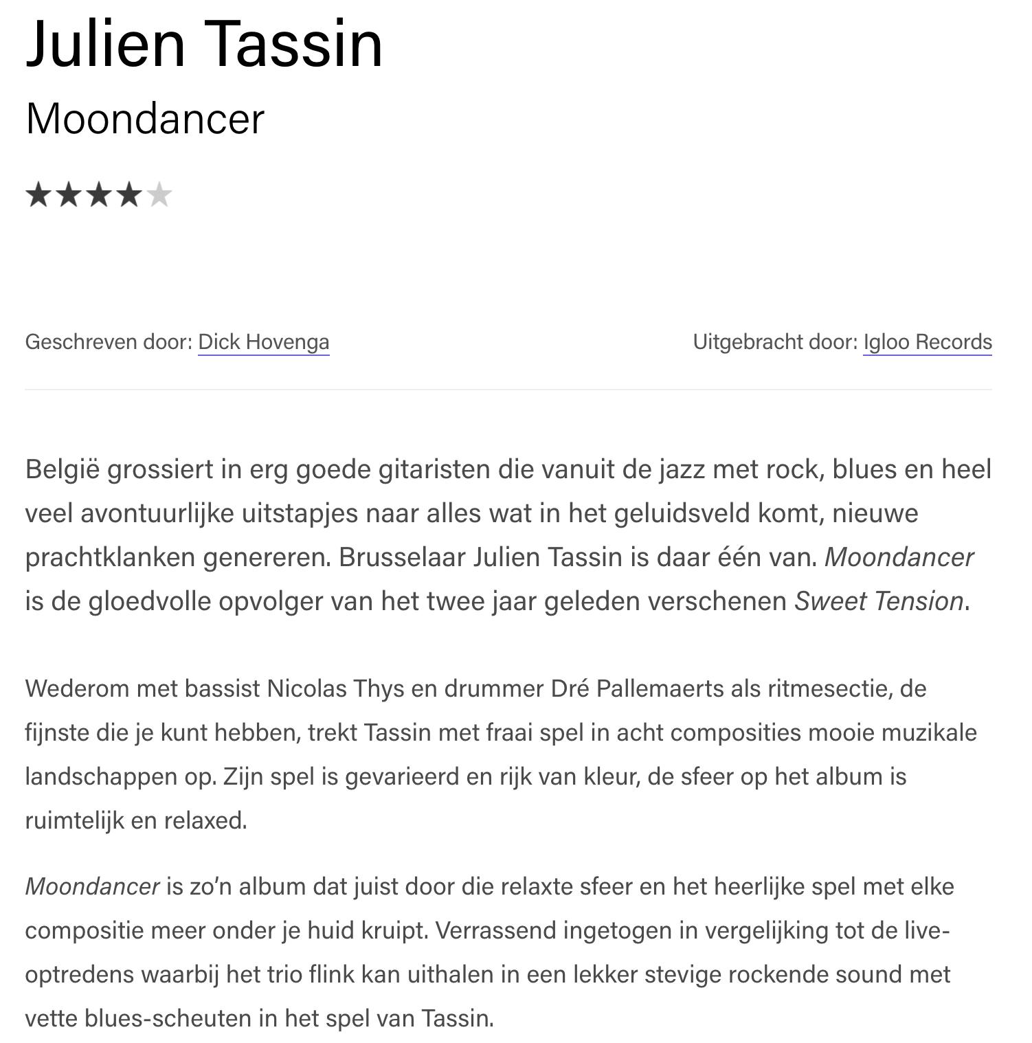 julien tassin written in music moondancer