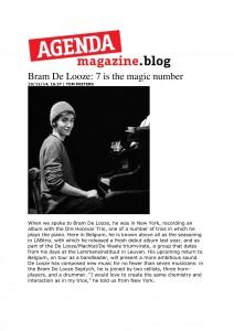Agenda magazine.blog - Interview - Bram De Looze-1