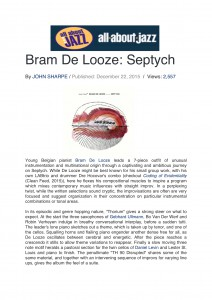 All About Jazz - Review - Septych - Bram De Looze-1