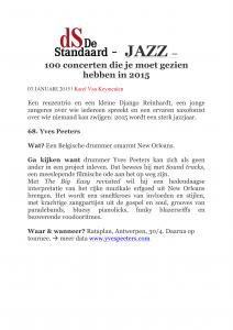 De Standaard - Yves peeters Gumbo - Must see 61_100 of 2015 -1