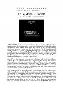 Fons Immortalis - Azure Mortal – Duivels-1