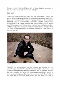 Jazz NU - Interview Brengt oude muziek en jazz samen - Jasper Blom Quartet feat. Bert Joris-6