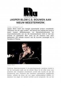 Jazz Nu - Interview bouwen aan een nieuw meesterwerk- Jasper Blom Quartet feat. Bert Joris-1