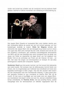 Jazz Nu - Interview bouwen aan een nieuw meesterwerk- Jasper Blom Quartet feat. Bert Joris-3