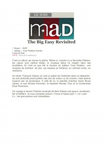 Le Soir _ Le Mad - Review - The Big Easy Revisited