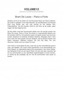 VOLUME12 - Review - Bram De Looze Solo-1
