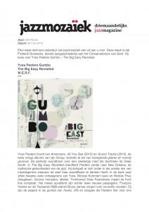 Yves Peeters Gumbo  - Jazzmozaiek-1